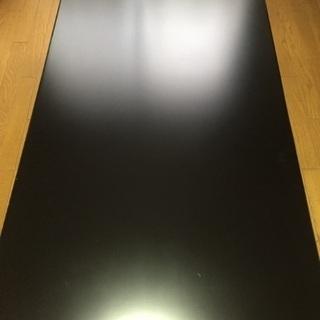 美品★黒 ローテーブル 座卓 150×80×37cm 化粧板