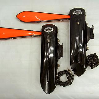 アポロ 腕木式方向指示器 ウインカー 6V 左2個 メグロ 陸王...
