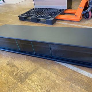 0801-20  テレビボード 木目 ブラック ガラス