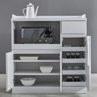 [幅90] 食器棚 レンジ台 コンセント付き