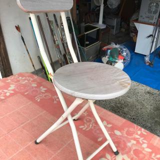 花台にしていた折りたたみ椅子