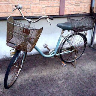 【乗って帰れます!】自転車 前後かご付き