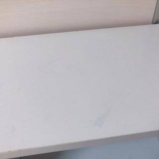 【汚れ有り】【リメイク用】白色 2段カラーボックス − 東京都