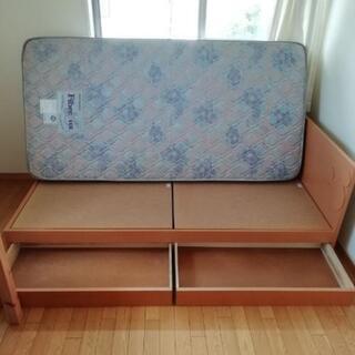 シングルベッド ディズニー収納付き - 家具