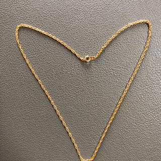 金色 ネックレス 全長金具込み約51センチ