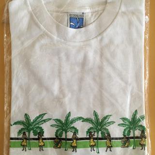 B品 Tシャツ 白 ハワイアン柄 Mサイズ