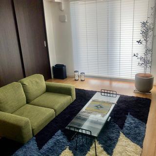 【価格交渉あり】ウニコ UNICO ガラス ローテーブル 横100cm