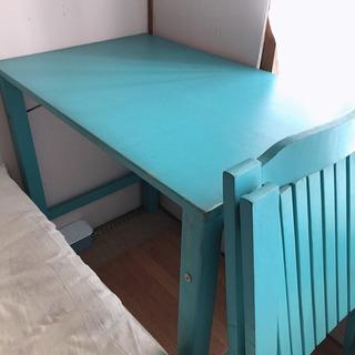 【無料】無印 木製テーブル 椅子のセット