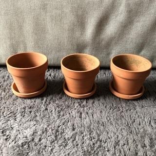 植木鉢 3個セット(受け皿付)