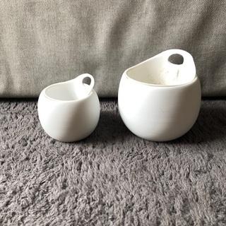 無印良品 底面給水鉢 大小 2個セット ホワイト