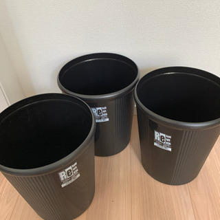 ゴミ箱 ごみ 黒 バケツ 植木鉢カバー