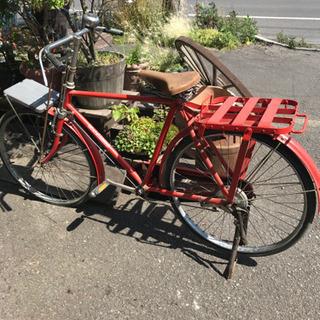 自転車、郵便局自転車、郵政省自転車、レトロな自転車、ツノダ…