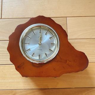 CITIZEN 楓で作られた置き時計