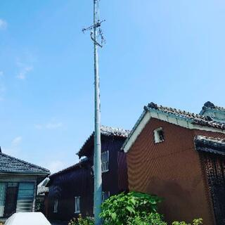 無線アンテナ 鉄塔 高さ約12m  本体無料 移設費ご負担願います
