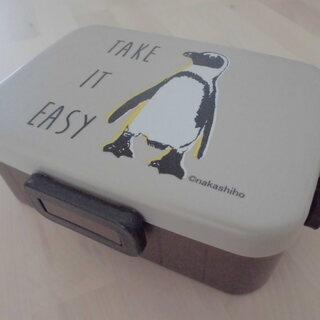 新品未使用★ペンギンの4点ロック弁当箱/ランチボックス★小傷あり