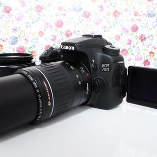 ★全国発送対応★【王道の大人気!】Canon 70D ダブルレン...