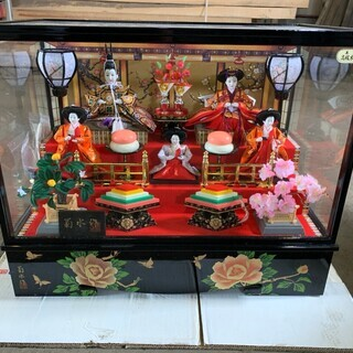【0円】特選三月雛人形 三五5人飾り オルゴール付 雛人形② 照...