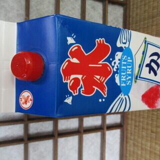 かき氷シロップ ミツモト 氷蜜 1.8L グレープ味 業務用 - 売ります・あげます
