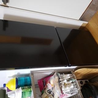 【無料でお渡しします】ブラック統一でオシャレな冷蔵庫(一人暮らし...