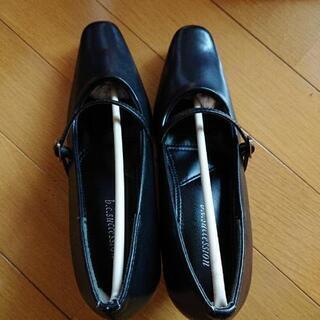 22cm 黒 パンプス