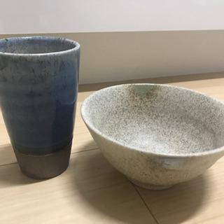 市田ひろみ茶碗とおまけのカップ