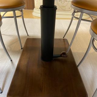 昇降式 ダイニングテーブル 椅子4脚セット - 家具
