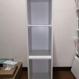 美品 ニトリ カラーボックス Nカラボ ホワイト スリム3段 ①