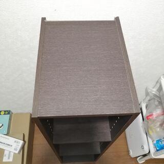 ニトリ カラーボックス Nカラボ ダークブラウン スリム3段 ①