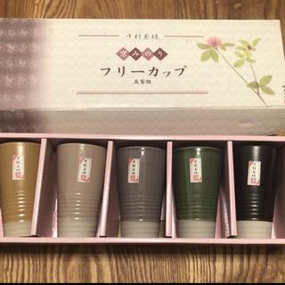 陶器5客組フリーカップ『京みのり』中村玉緒