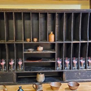 超希少! 明治後期から大正時代に使用されていた 木製棚(本・グラ...