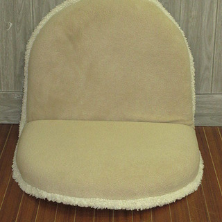 【ネット決済・配送可】stp-0318 座椅子 ベージュ フルフ...