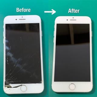 バキバキのiPhoneお直しします!液晶、タッチがダメでも即日修...