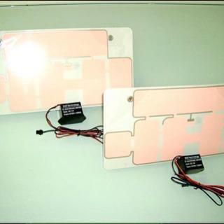 字光式 超薄型 ELプレート 前後 2枚組 フルセット 12V用...