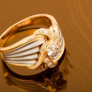 K18/Pt900 ダイヤモンド 指輪 品番8-360