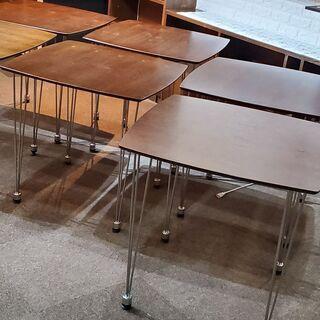 【いろいろな用途に!(^^)!】 木製天板テーブル 机 6個セッ...