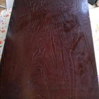 木目テーブル(足部分折りたたみ)