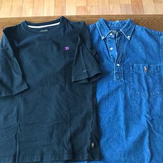 Tシャツ&デニムポロシャツ?セット 160