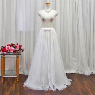 ウェディングドレス  オーバースカート  巻きスカート