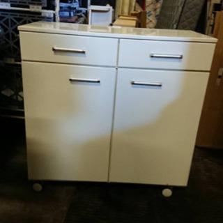 キッチンボード ホワイト 引出し収納 大容量 キッチン収納