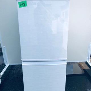 708番 シャープ✨ノンフロン冷凍冷蔵庫✨SJ-14X-W‼️