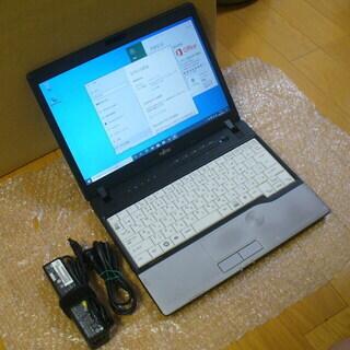 ㋠安心の富士通製 SSD USB3.0 ICカードスロット搭載 Windows 10 Pro / Office 2016 Professional インストール済(ライセンス認証済) 12.1インチ モバイルノートPC㋠の画像