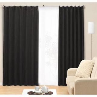 ニトリ 1級遮光カーテン ブラック 200×100