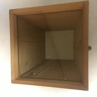 木造箱メガネ 水中メガネ(ガラス) ハンドル付き