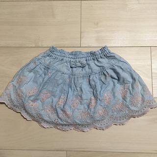 スーリー キュロットスカート 90 水色の画像