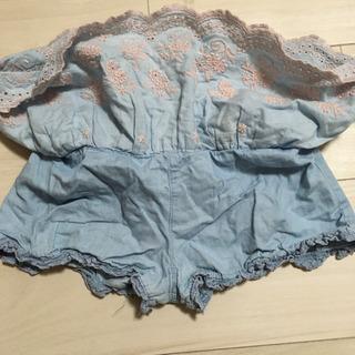 スーリー キュロットスカート 90 水色 - 子供用品