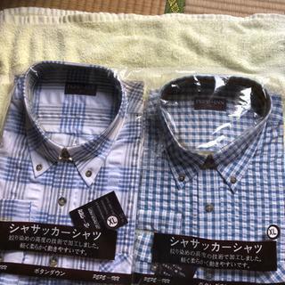 未使用 バラ売り可能 メンズ ボタンダウンシャツ チェック…