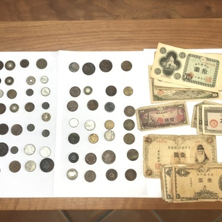 レア!古銭70枚・紙幣セット③!大日本 明治、大正、昭和初期セット