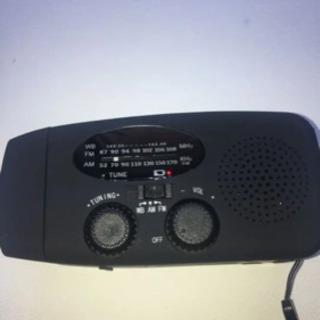防災ラジオ 災害 緊急 USB ソーラーパネル ライト付