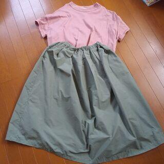 M&M ナイロンロングスカート シフォンスカート