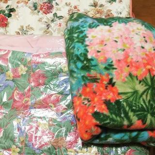 美品☆敷き布団&掛布団&毛布のセット